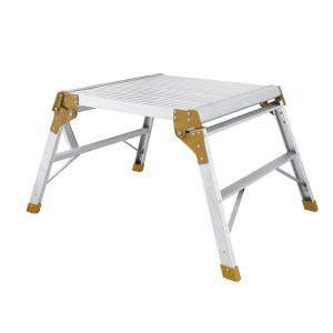 China Professional Folding Aluminium Work Platform Bench , Movable Ladder Platform on sale