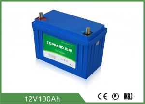 China Topband Lithium Phosphate Battery 12V 100Ah With High Larger Terminals on sale