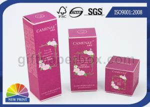 China Custom Design Printed White Kraft Paper Folding Carton Box For Skincare Cosmetics on sale