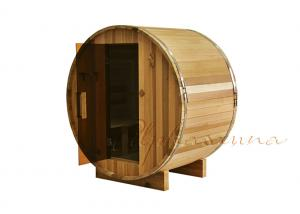 China Handcrafted Birch / White Pine Cedar wood saunas room with Wall Mounted Lighting Fixture on sale