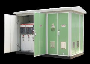 China 11kv 33kv Integrated Prefabricated Power Transformer Substation Environmental Material Shell on sale