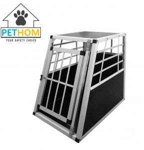 China Aluminum Lockable Pets Dog Cat Travel Carrier Cage 55x77x69.5cm on sale
