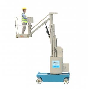 China Indoor 6 -10m Compact Light Weight Self Propelled Aerial Work Platform boom lift on sale