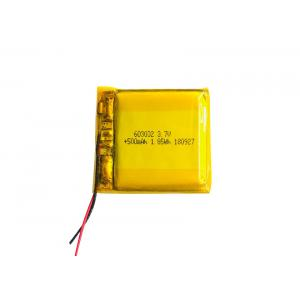 13g Pouch 3.7V 500mah Lipo Battery , 603032 Lithium Ion Polymer Rechargeable Battery