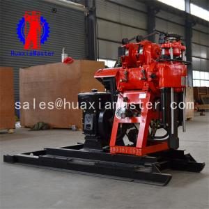 China Hz-130yy drilling rig small wheel type water well drilling tower hydraulic take-off and landing drilling rig on sale