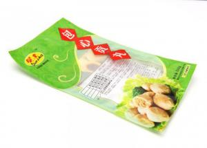 China Transparent Plastic 3 Side Seal Flat Pouch Food Packaging Bag Withand Tear Notches on sale