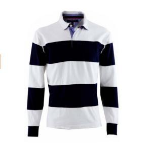 China Custom Team Logo Mens OEM Made Rugby Long Sleeve Polo Shirt on sale