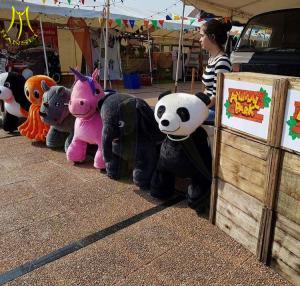 China Hansel High quality plush animal design electric kids walking game machine on sale
