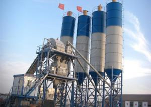 China 60m3 Small Ready Mix Concrete Plant With Stationary Automated Belt Conveyor on sale