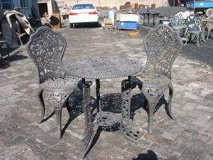 China Aluminum Cast Iron Table And Chairs / Powder Coating Cast Iron Table Ends on sale