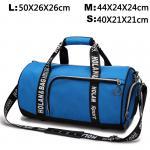 Дуффел черной/голубой портативной сумки перемещения отдыха женщин водоустойчивый с хранением ботинок