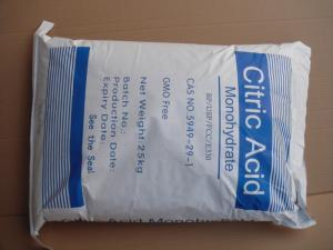 China citric acid monohydrate for food additives on sale