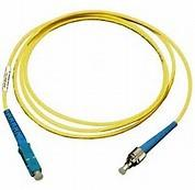 China ST to SC Simplex Singlemode 9 / 125 μm Fiber Optic Patch Cord in Yellow PVC Jacket on sale