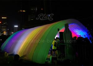 China LED Lighting Inflatable Event Tent 420D Oxford Cloth Inflatable Tunnel Tent on sale
