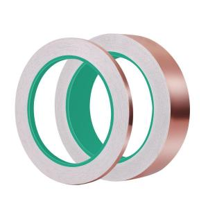 China 1/4 inch x 55 yds Adhesive Backed Copper Foil Tape Double conductive on sale