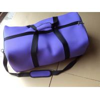 Purple Foldable Neoprene Travel Luggage Bags , Duffle Bags For Women