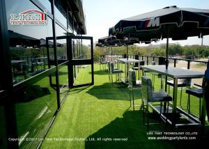 China Black double decker tent for large and luxury event. on sale
