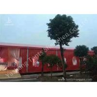 Popular Red Color 20m Width Luxury Wedding Party Tent Marquee with Top and Wall Curtains