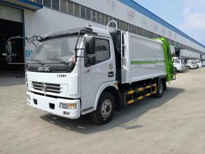 China 5 Ton Rear Loading Garbage Compactor Truck 4 X 2 Dongfeng 120hp 5CBM on sale