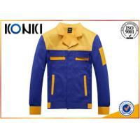 Formal Worker Custom Jackets Blue And Yellow Uniform Fashion Tops