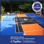 250mm x 250mm x 12.7mm PP Interlocking Sports Flooring