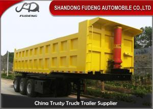 China Three / Double Axle Heavy Duty Dump Trailers, Steel Frame Tipper Semi Trailer on sale