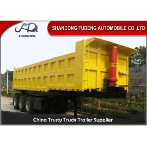 China Three / Double Axle Heavy Duty Dump Trailers , Steel Frame Tipper Semi Trailer  on sale