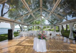 China Pretty Transparent Cover Outdoor Wedding Reception Marquee Solid Anodized Aluminum Profile on sale