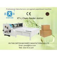 Semi Auto Corrugated Carton Box Making Machine , Cardboard Produce Line