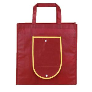 China Tear Resistant Non Woven Reusable Bags Fold Up Tote Bag Full Color Printing on sale