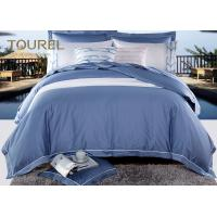 Egyptian Cotton Comfortable Hotel Quality Bed Linen Jacquard Hotel Bedding Sets Blue Stain