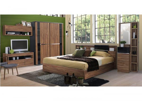 . Fashion Melamine 5 Piece Bedroom Furniture Sets With Sliding
