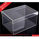 China DY101 Acrylic Shoe Box Shoes Container Shiny Smooth Strong Tough wholesale