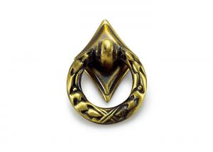 China Antique Bronze Drawer Kitchen Cupboard Door Handles Gold Ring / Circle on sale