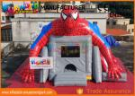 Superhero Combo Spider - man Commercial Bouncy Castles / Inflatable Bounce House For Children