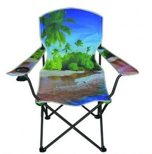 China fishing chair with armrests with cup holder,camping chair comfortable portable, beach folding chair on sale