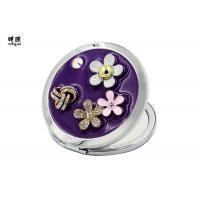 Flower Engraved Handbag Compact Mirror , Mens Cosmetic Compact Mirror