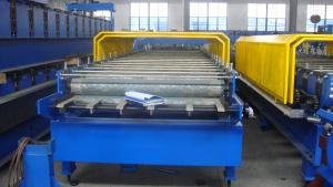 China 5 Ton Manual Decoiler Metal Roofing Roll Forming Machine Glazed Trapezoidal on sale
