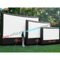 China Pantalla de cine inflable del exterior profesional con la lona del PVC de 0.55m m on sale