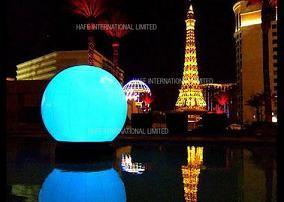 China Floating Giant Inflatable Lighting LED 480W Water Balloon For Concert / Advertising on sale