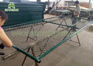 China Pre - Galvanized Portable Temporary Fence Panels For Commercial Construction Sites on sale
