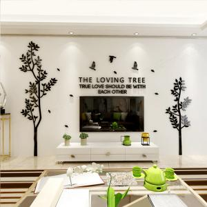China Customized family tree acrylic wall stickers customl decals, lover tree deco 220 on sale
