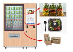 China Winnsen Juice Salad Vending Machine , Healthy Food Vending Locker With Lift System on sale