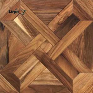 China oak wood parquet tiles cheap wood parquet flooring oak parquet walnut teak 600mm 15mm thickness on sale
