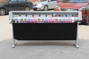 China 1350mm Arms Servo Vinyl Sign Cutter , Precision Automatic Contour Vinyl Sticker Cutter on sale