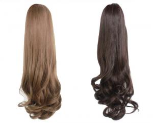 China Clip on body wave Synthetic Pony tail on sale