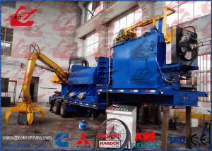 China Mobile Scrap Metal Baler Logger Hydraulic Metal Baling Press Diesel Engine Power Feeding Grab Equipped on sale