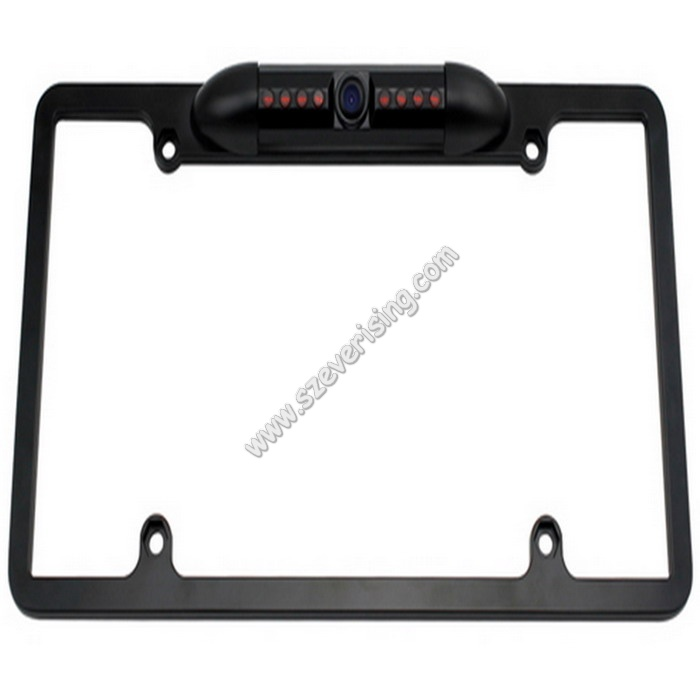 Car License Plate Mount Backup Camera HD 180 Degree Wide Viewing Angle 8 LED