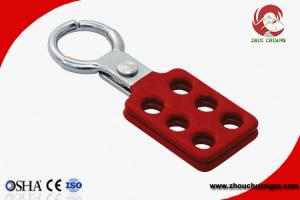China Lightweight Aluminum LOTO Hasp with 25mm Lock Shackle Safety Lock Out on sale