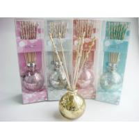 Golden Round Glass Wax Lyrical Reed Diffuser Set For Decorative